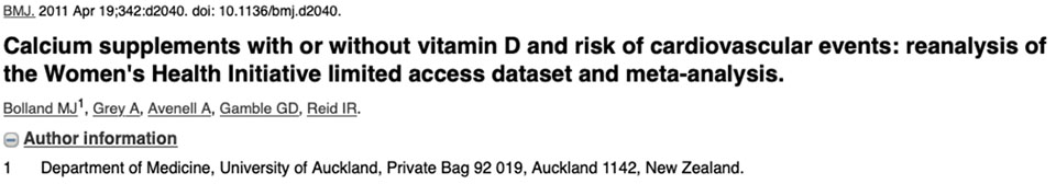 Calcium supplements with or without vitamin D and risk of cardiovascular events