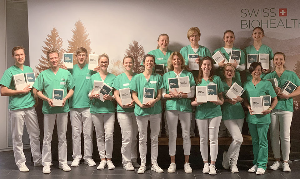 Das Swiss Biohealth Team mit Basic Immune